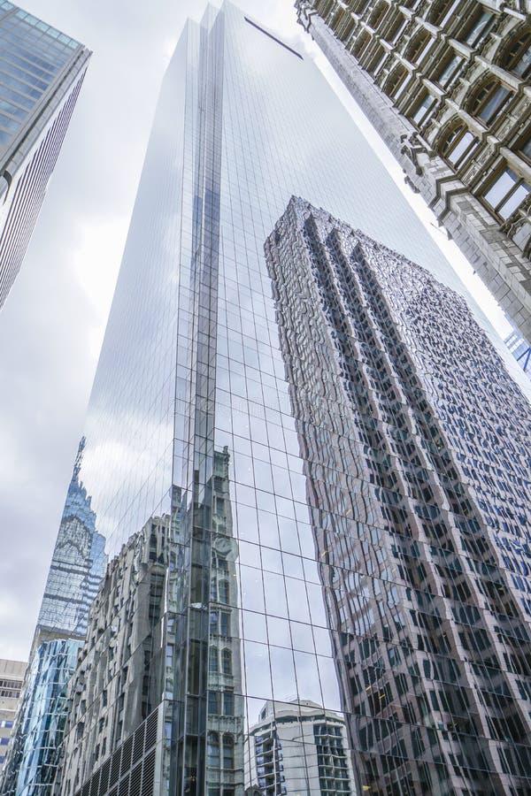 De Wolkenkrabbers van Philadelphia - moderne bureaugebouwen - PHILADELPHIA - PENNSYLVANIA - APRIL 6, 2017 stock foto
