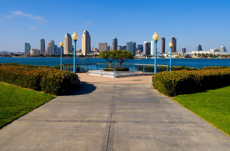 De wolkenkrabbers van San Diego royalty-vrije stock foto