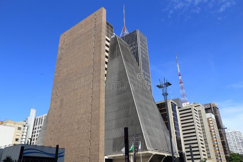 De wolkenkrabbers van Sao Paulo stock foto's