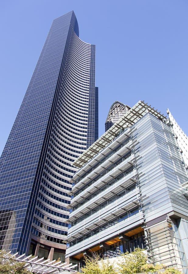 De Wolkenkrabbers van Seattle royalty-vrije stock afbeelding