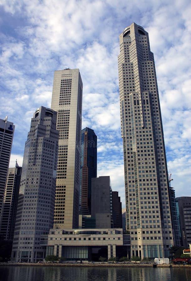 De Wolkenkrabbers van Singapore royalty-vrije stock afbeeldingen
