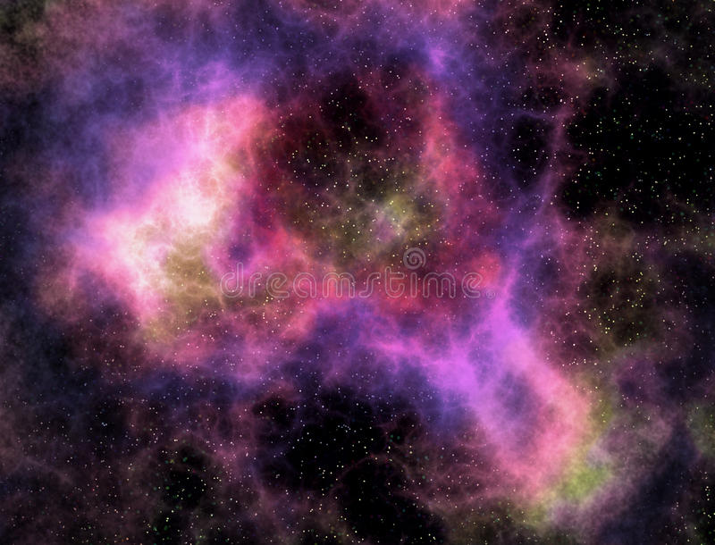 De wolkennevel en sterren van de kosmische ruimte vector illustratie