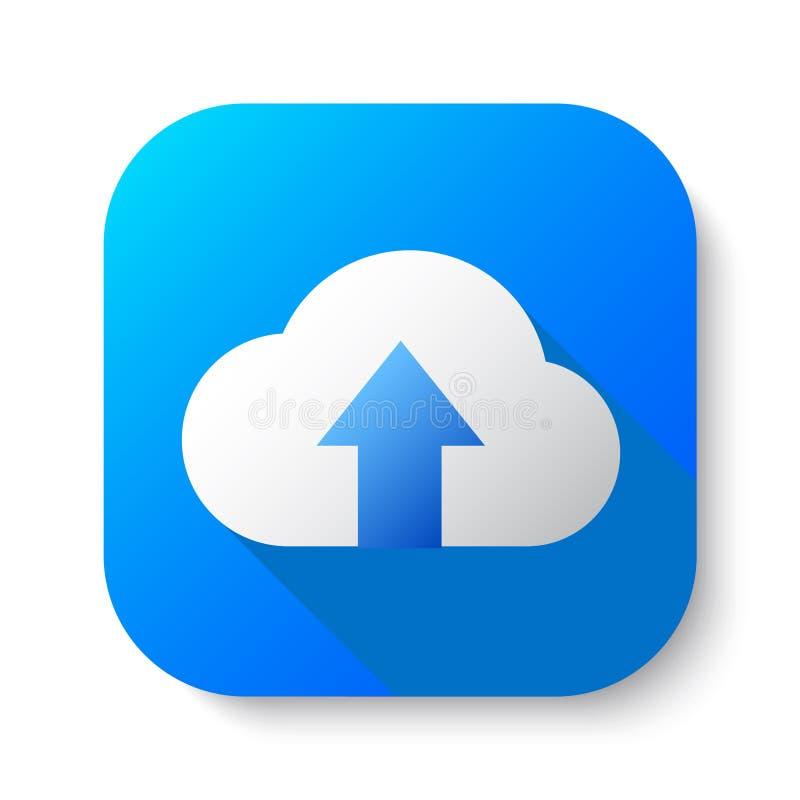De wolkenopslag uploadt vector illustratie