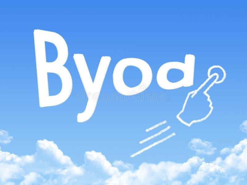 De wolkenvorm van het Byodbericht stock illustratie