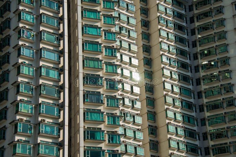 De woningbouw van de Higndichtheid in Hong Kong stock fotografie