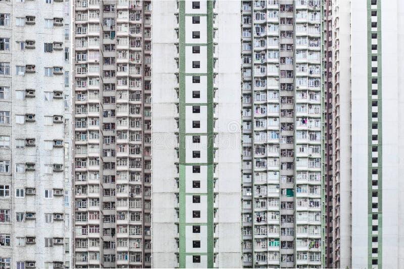 De woningbouw van de Higndichtheid in Hong Kong royalty-vrije stock foto