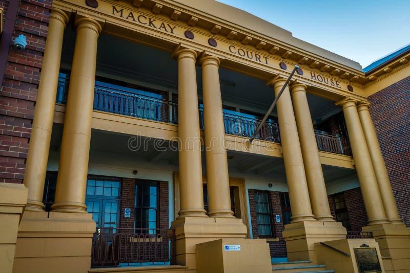 De woningbouw van het Mackayhof in Queensland, Australië stock foto