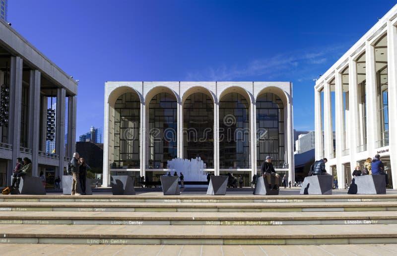 De woningbouw van Metropolitan Opera in centrumfoto in Nieuw wordt gevestigd die stock afbeelding