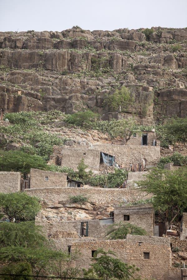 De woningen van de steenklip in Afrika royalty-vrije stock foto's