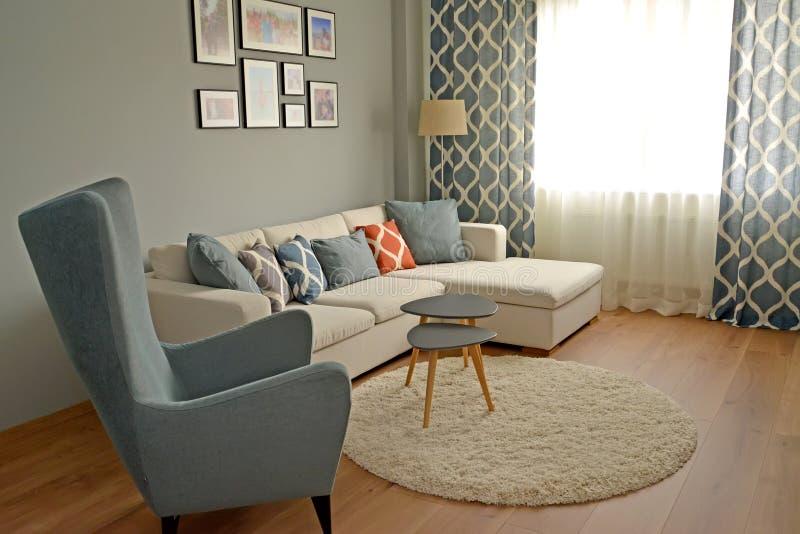 De woonkamer in de Skandinavische stijl royalty-vrije stock foto