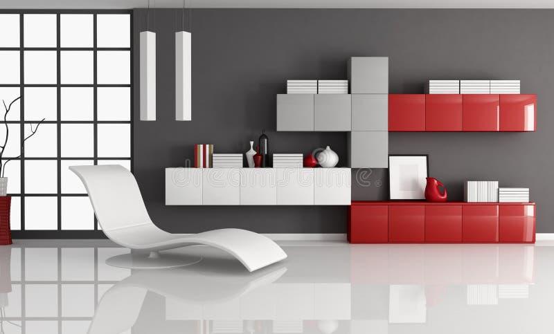 De woonkamer van Contemporay stock illustratie