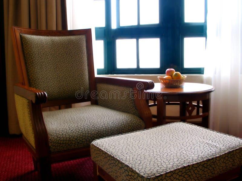 De Woonkamer van het hotel stock foto's