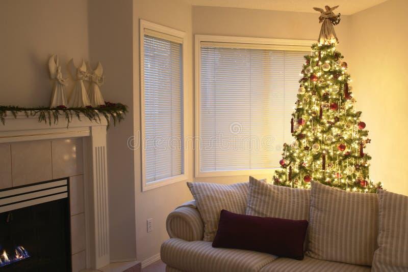 De Woonkamer van Kerstmis royalty-vrije stock afbeeldingen