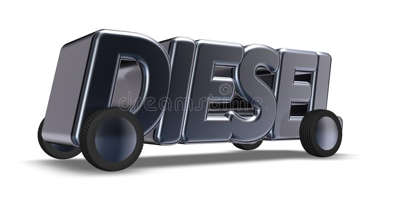 De woorddiesel op wielen royalty-vrije illustratie