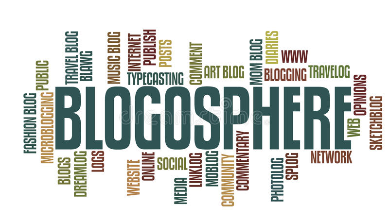 De Woorden van Blogging stock illustratie