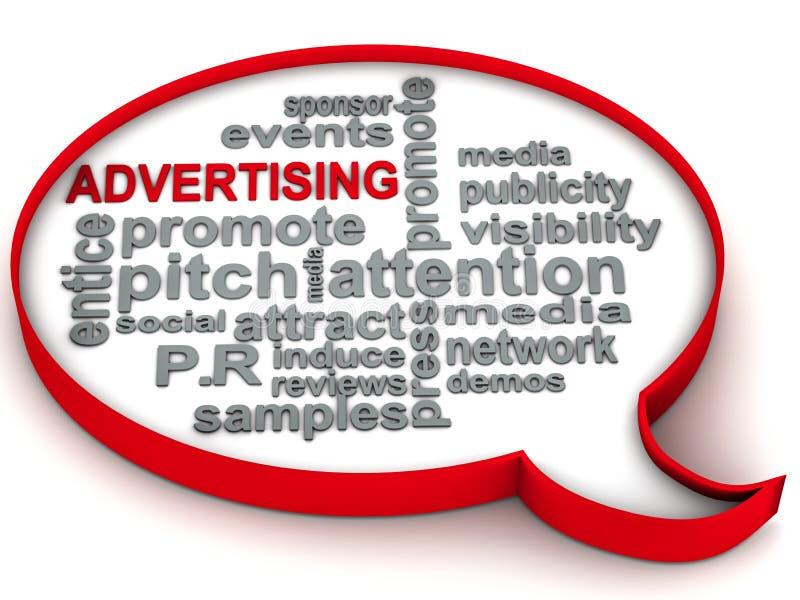 De woorden van de reclame royalty-vrije illustratie