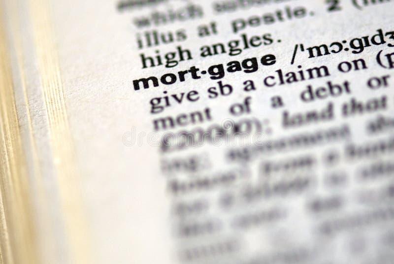 De woordhypotheek stock afbeelding