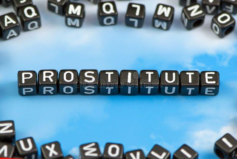 De woordprostituee stock fotografie