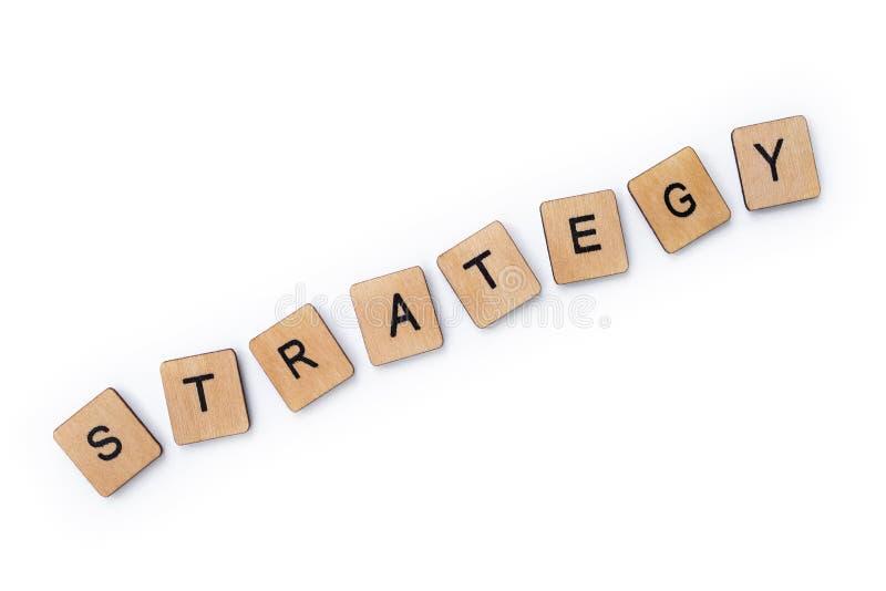 De woordstrategie royalty-vrije stock afbeelding