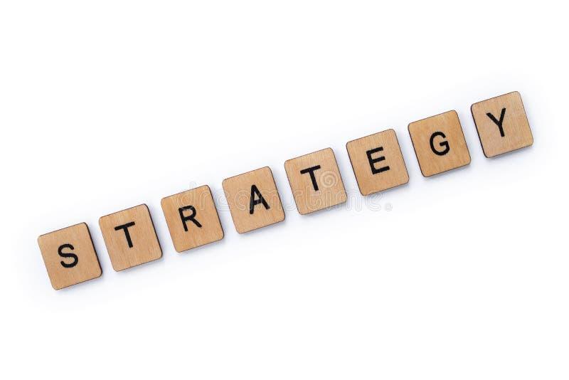De woordstrategie stock foto