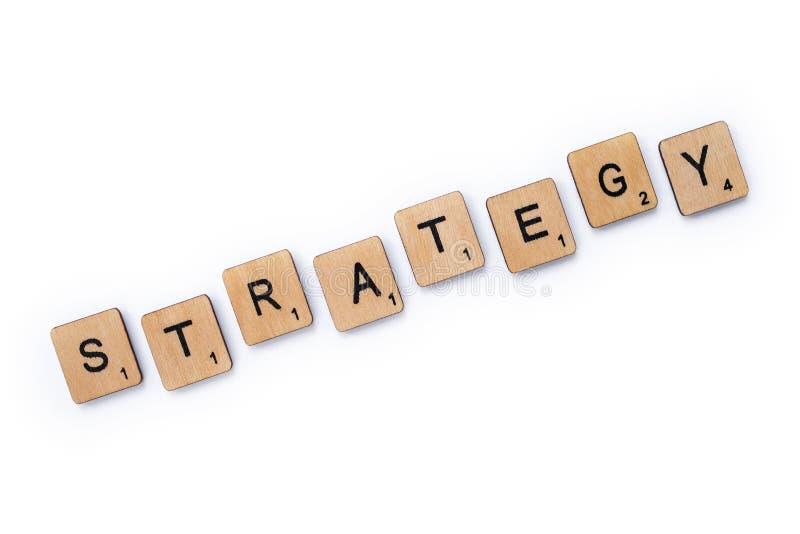 De woordstrategie stock afbeeldingen