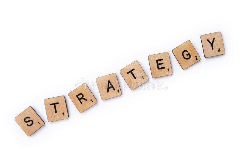 De woordstrategie stock fotografie