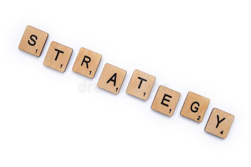 De woordstrategie royalty-vrije stock afbeeldingen
