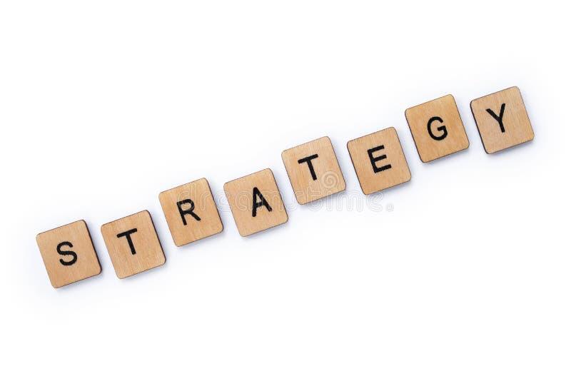De woordstrategie royalty-vrije stock foto's