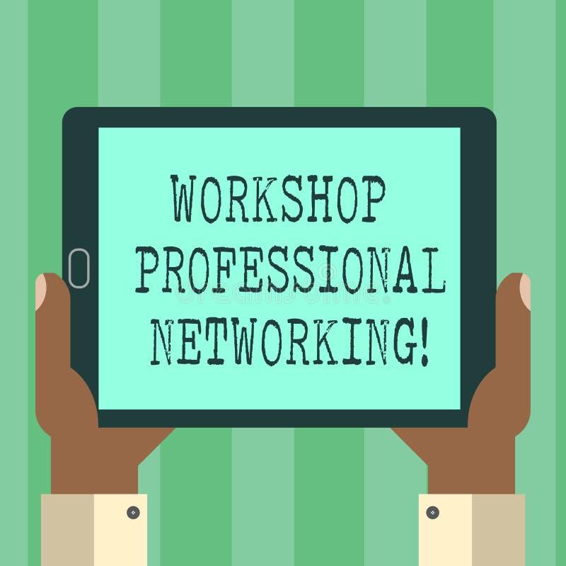 De Workshop Professioneel Voorzien van een netwerk van de handschrifttekst Concept die Activiteiten betekenen om de de analysehan vector illustratie