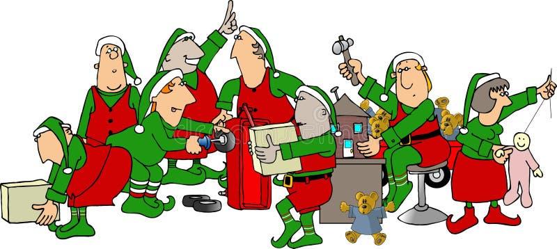 De Workshop van de kerstman royalty-vrije stock afbeelding