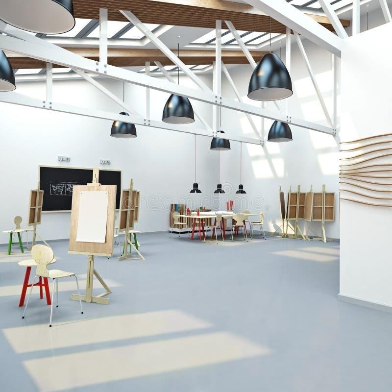De workshop van de kunstenaar `s royalty-vrije illustratie