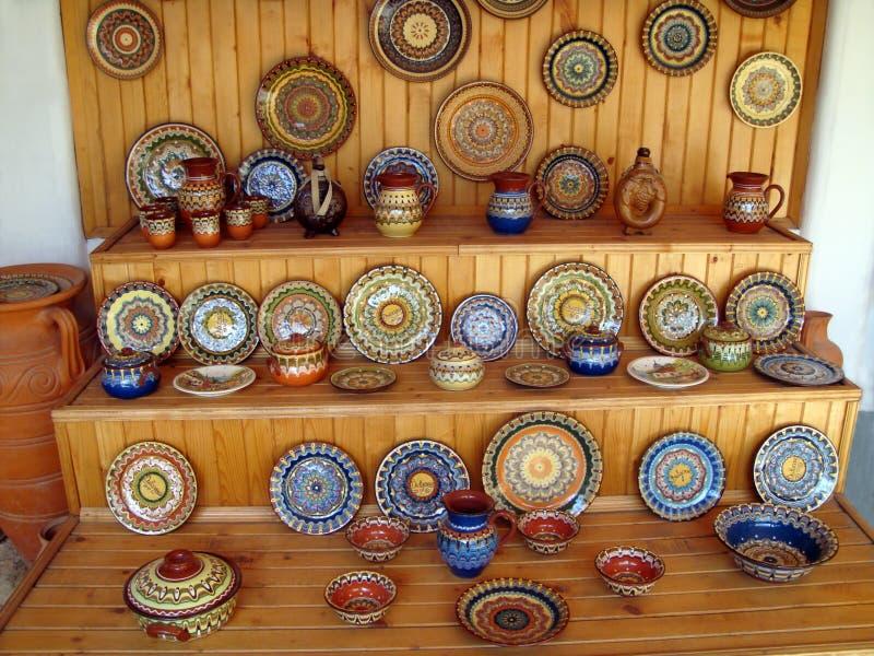De workshop van de pottenbakker. Bulgarije 2008 stock afbeeldingen
