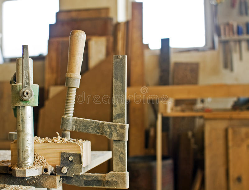 De workshop van de timmerman stock foto's
