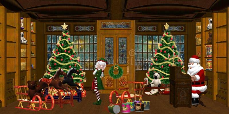 De Workshop van Kerstmis royalty-vrije illustratie