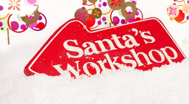 De Workshop van Santas royalty-vrije stock fotografie