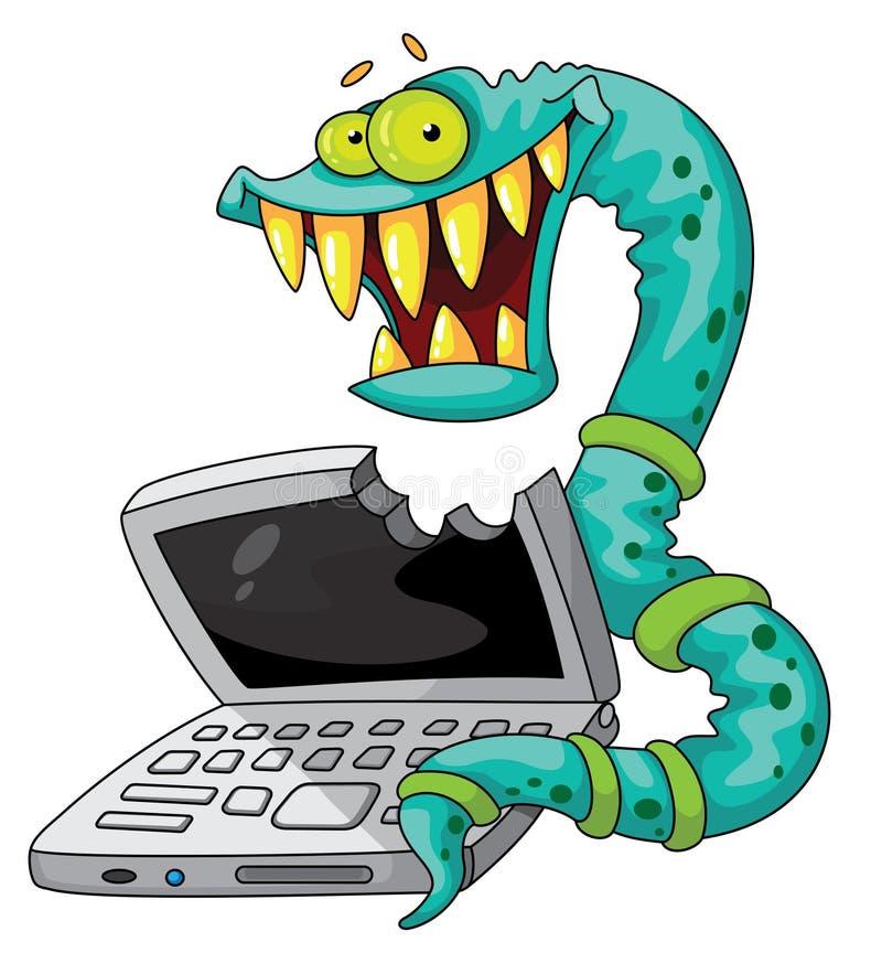 De worm van IT stock illustratie