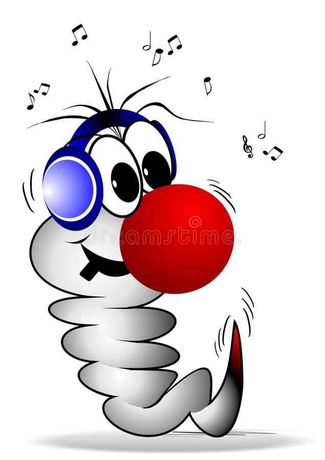 De Worm van de muziek royalty-vrije illustratie