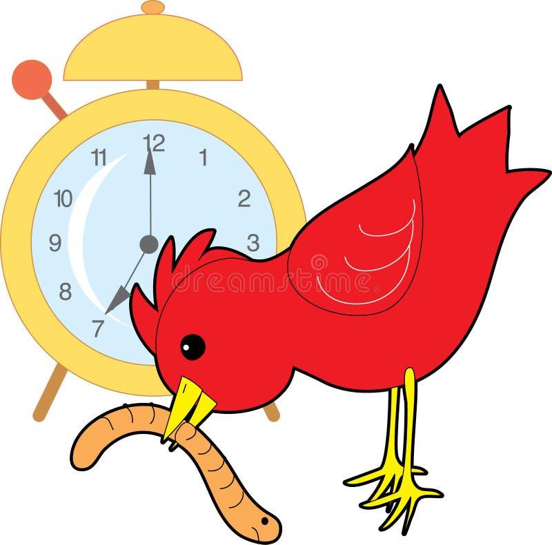 De Worm van de vroege vogel stock illustratie