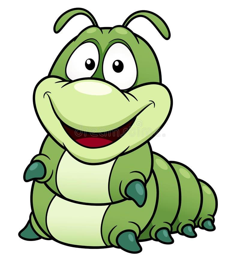 De worm van het beeldverhaal vector illustratie