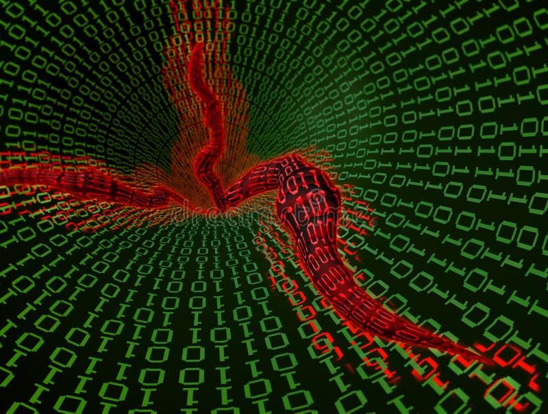 De wormvirus van de computer vector illustratie