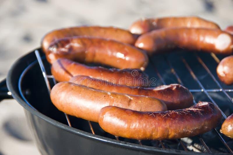 De worsten van de barbecue stock afbeelding