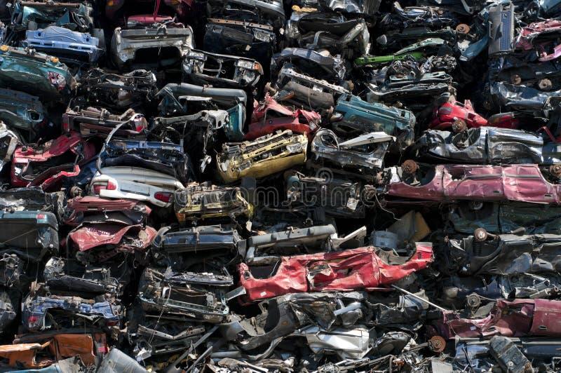 De wrakken van de auto stock afbeelding