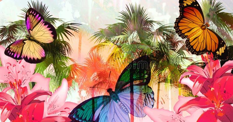 De wrede zomer vector illustratie