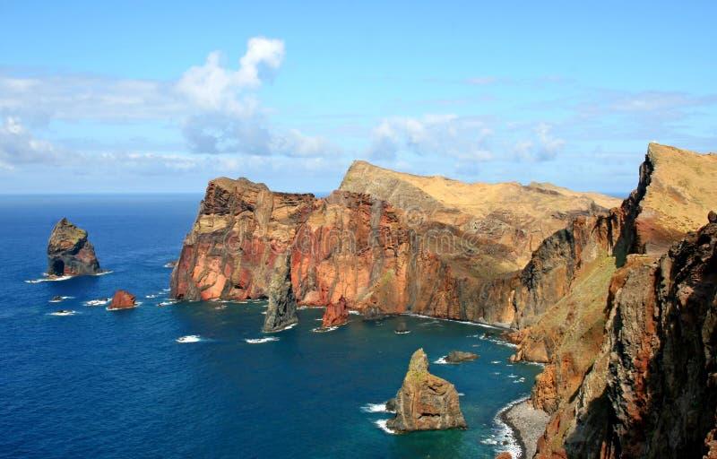 de Wyspa louren o Madeira ponta sao zdjęcia stock