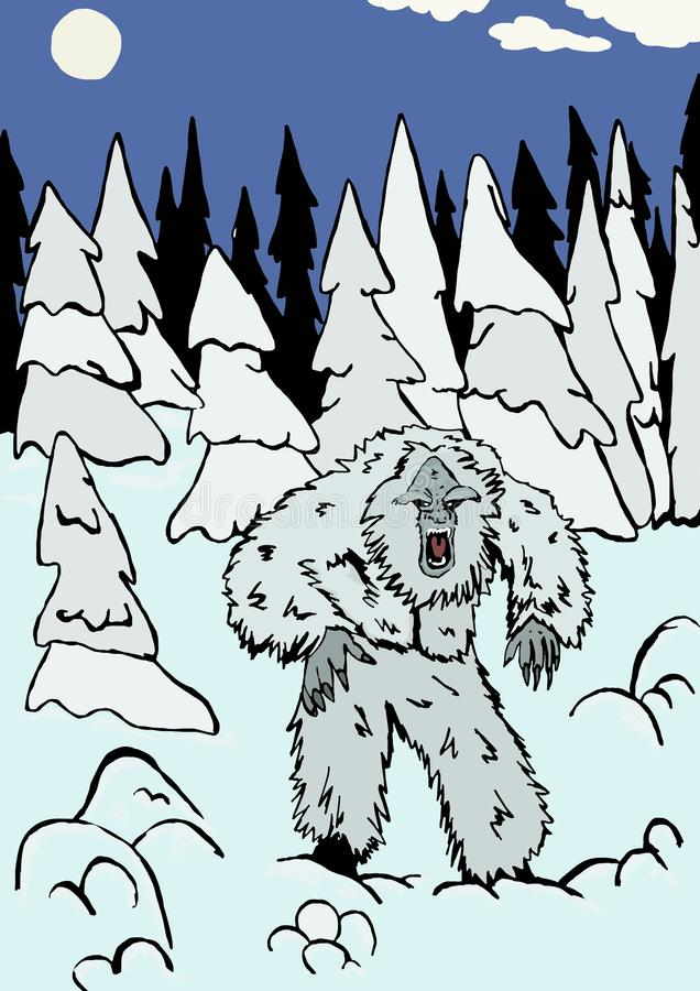 De yeti stock illustratie