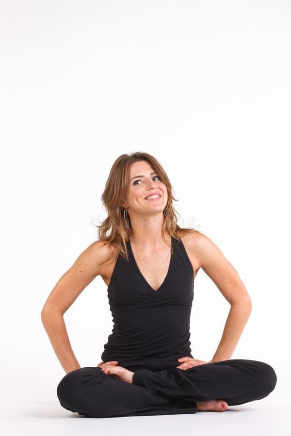 De yoga stelt stock foto