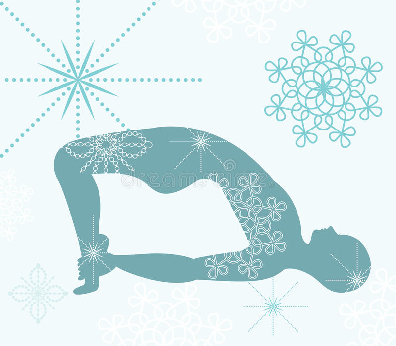 De yoga stelt stock illustratie