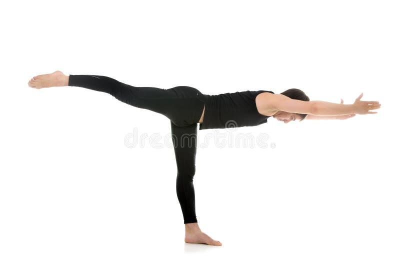 De yoga stelt Strijder 3 stock fotografie