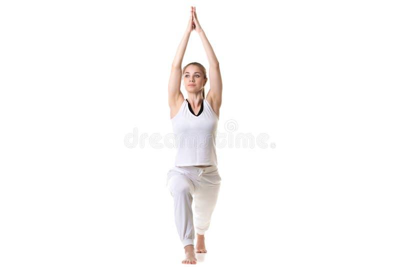 De yoga stelt Strijder 1 stock afbeelding
