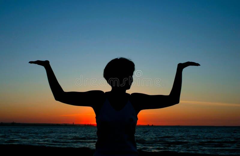 De yoga van de avond #2 stock afbeelding